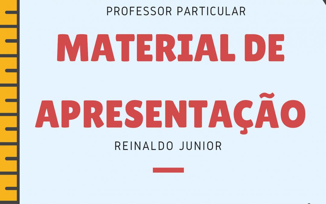 Como construir o seu material de apresentação de professor particular?