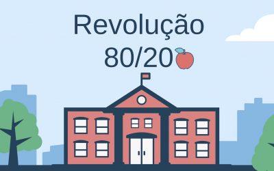 A Revolução 80/20 na educação do Brasil: Menos é mais